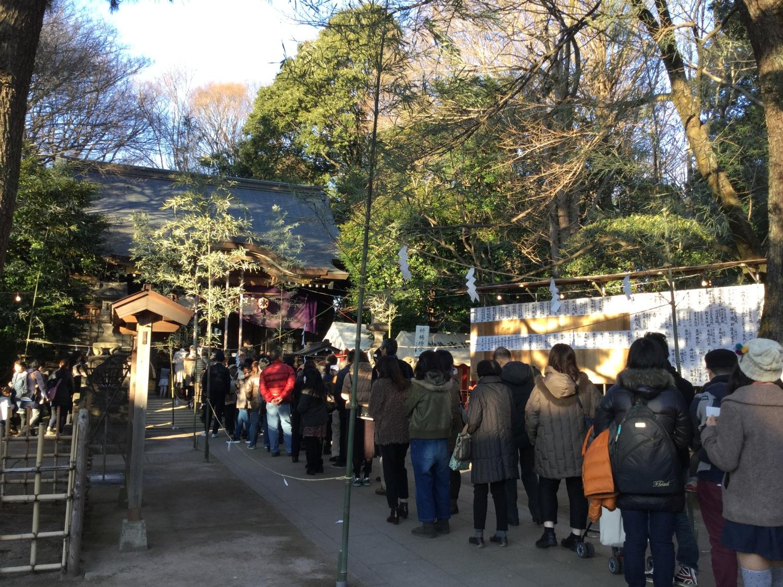 石神井冰川神社的新年參拜