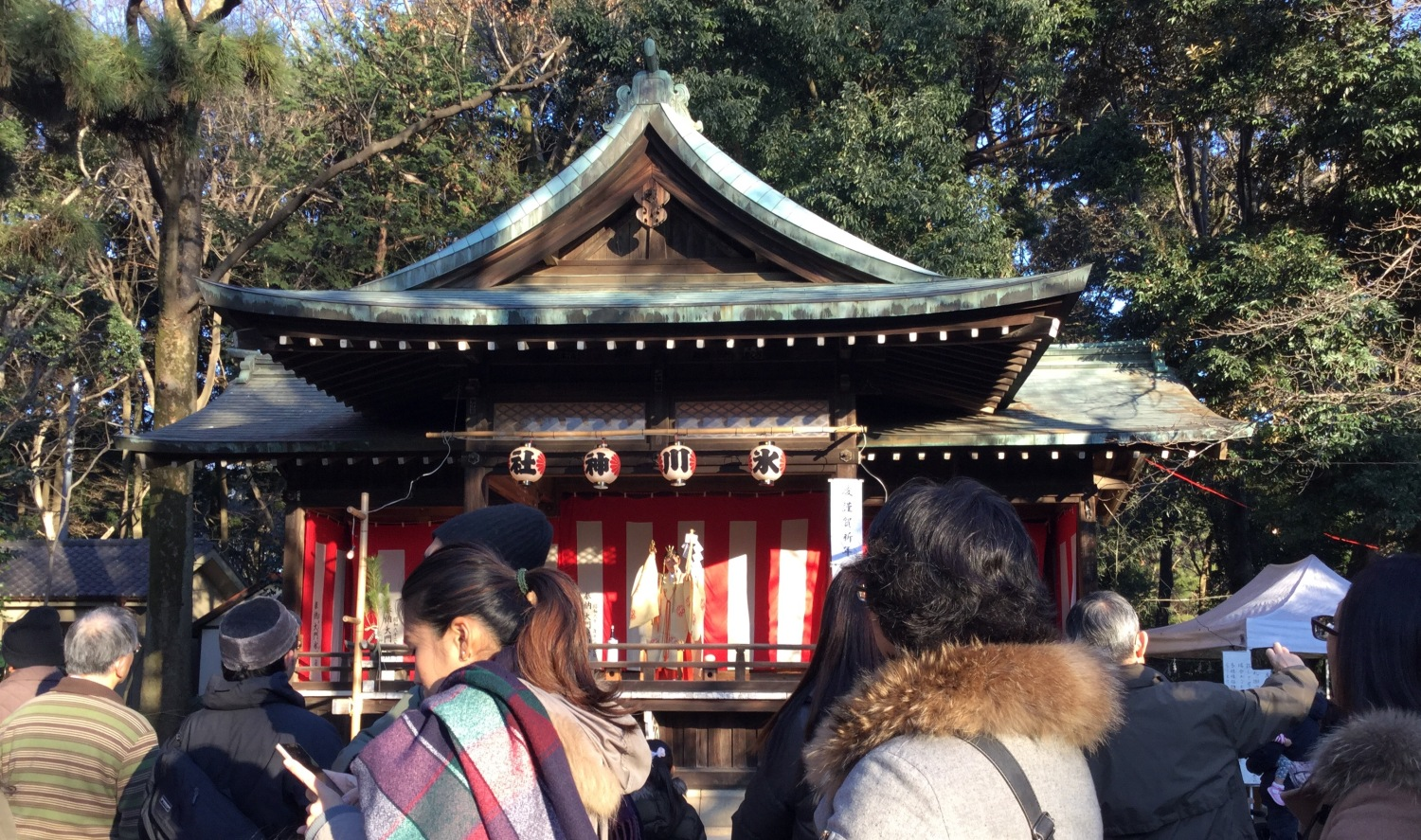 New Year's visit to a Shinto shrine image of Shakujii Hikawa Shrine