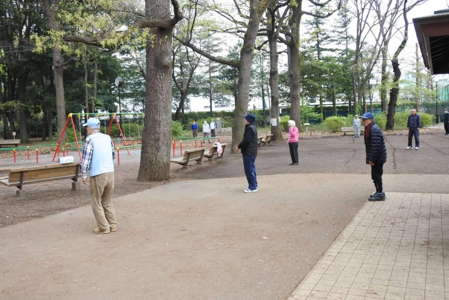 샤쿠지이코엔의 아침의 풍경 이미지