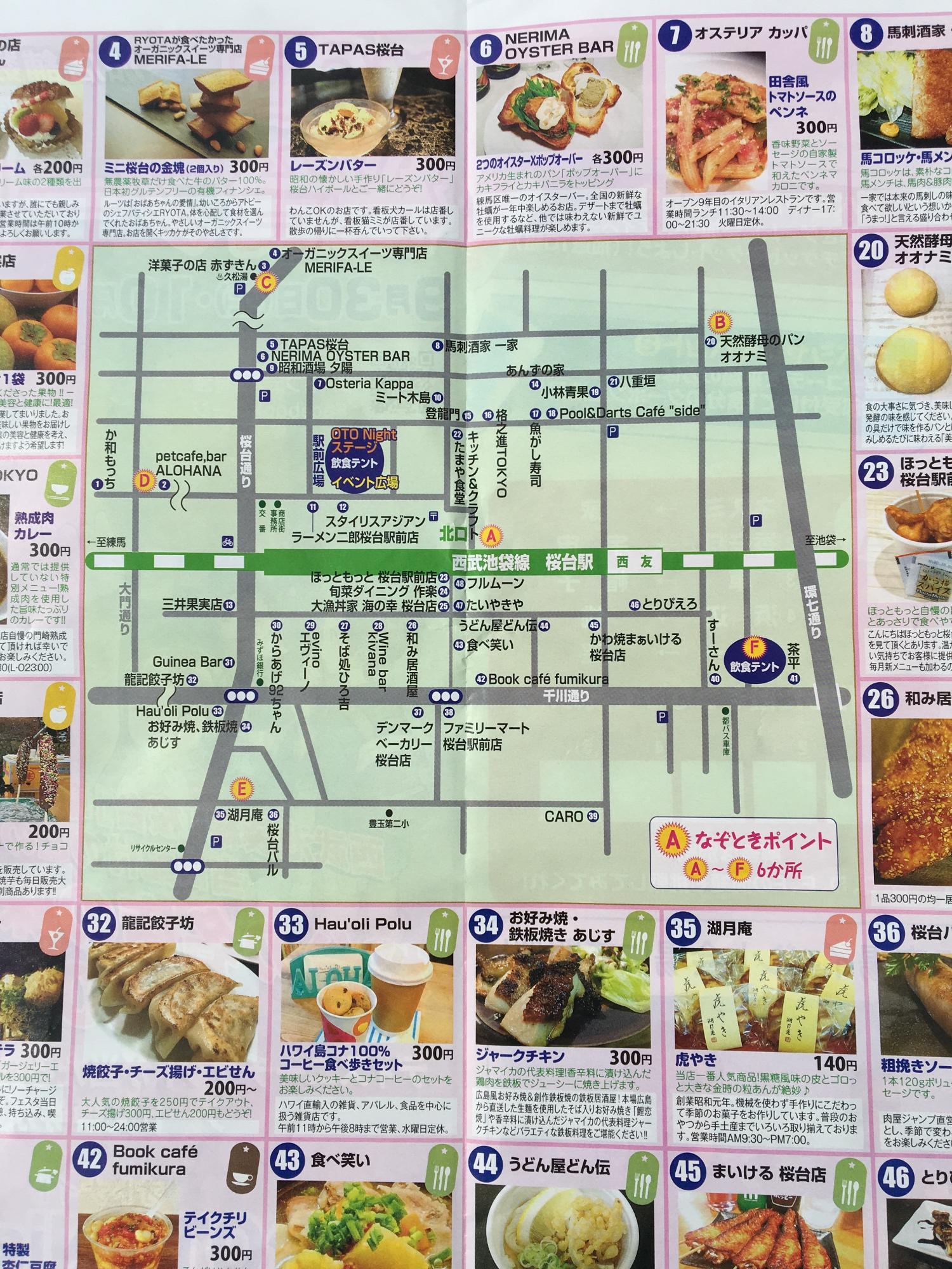 Sakuradai foods Festa map