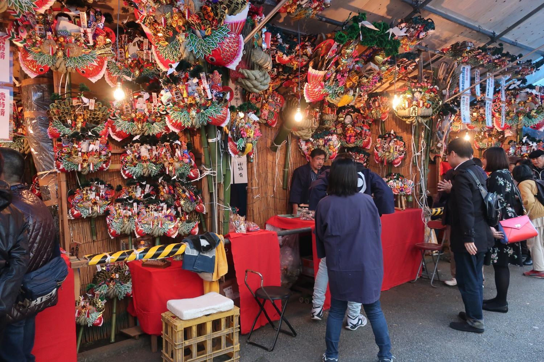 The Cock Fair, Arabian bird Shinto shrine image