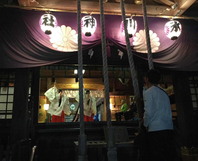 石神井冰川神社的定期的祭祀圖片