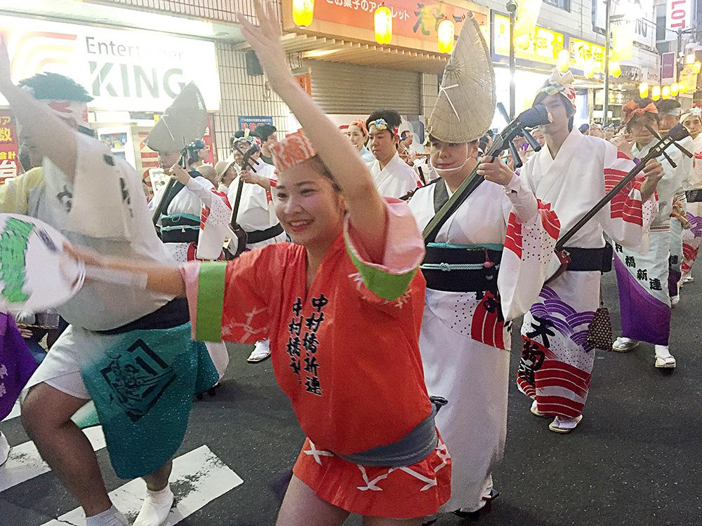 "Image held on ""the 44th Nakamurabashi Awa dance"" to be able to enjoy hotly close Saturday, August 31, 2019, Sunday, September 1"