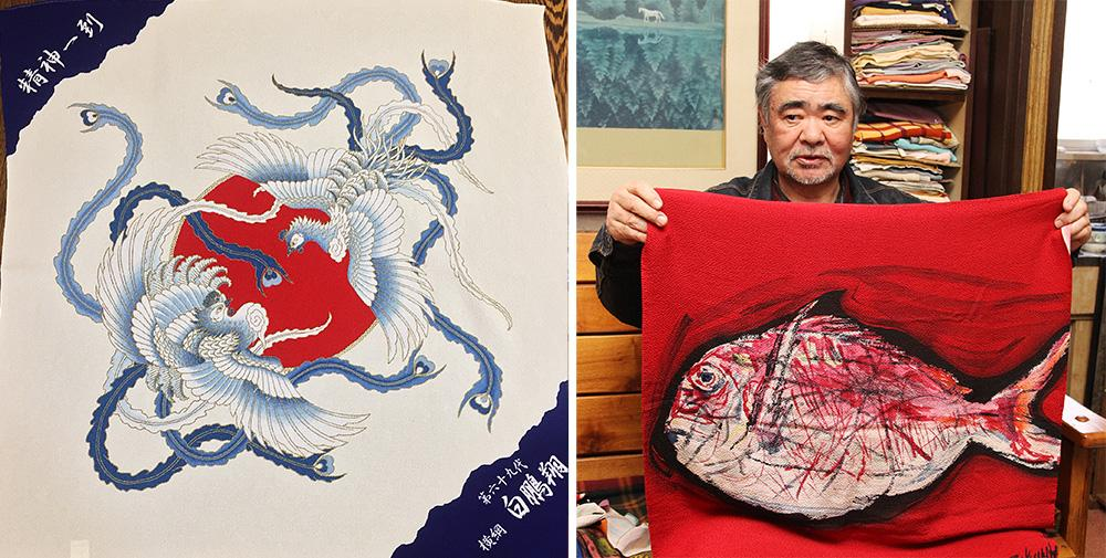 Furoshiki of yokozuna and Kabuki actor is image, too