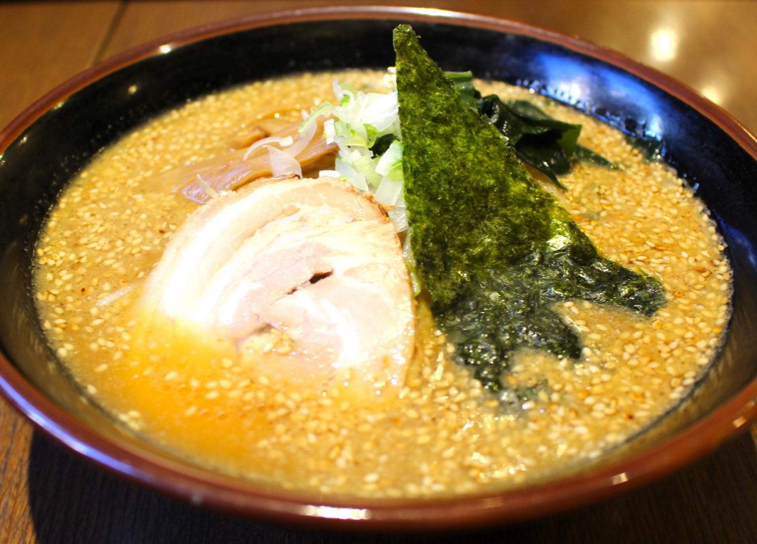 Real raamen Suehiro (breathe Hiro) - sesame and mild ramen - image which onion worked for briskly