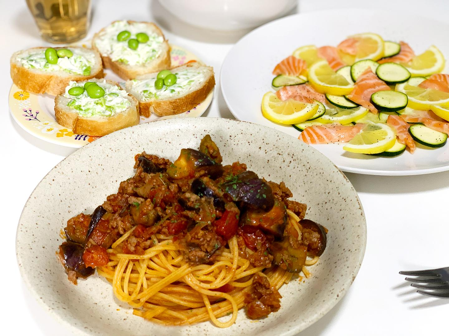 Delicious thing easily wants to eat! Image which created Italian-style dinner