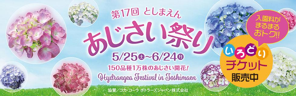 The 17th Toshimaen hydrangea Festival