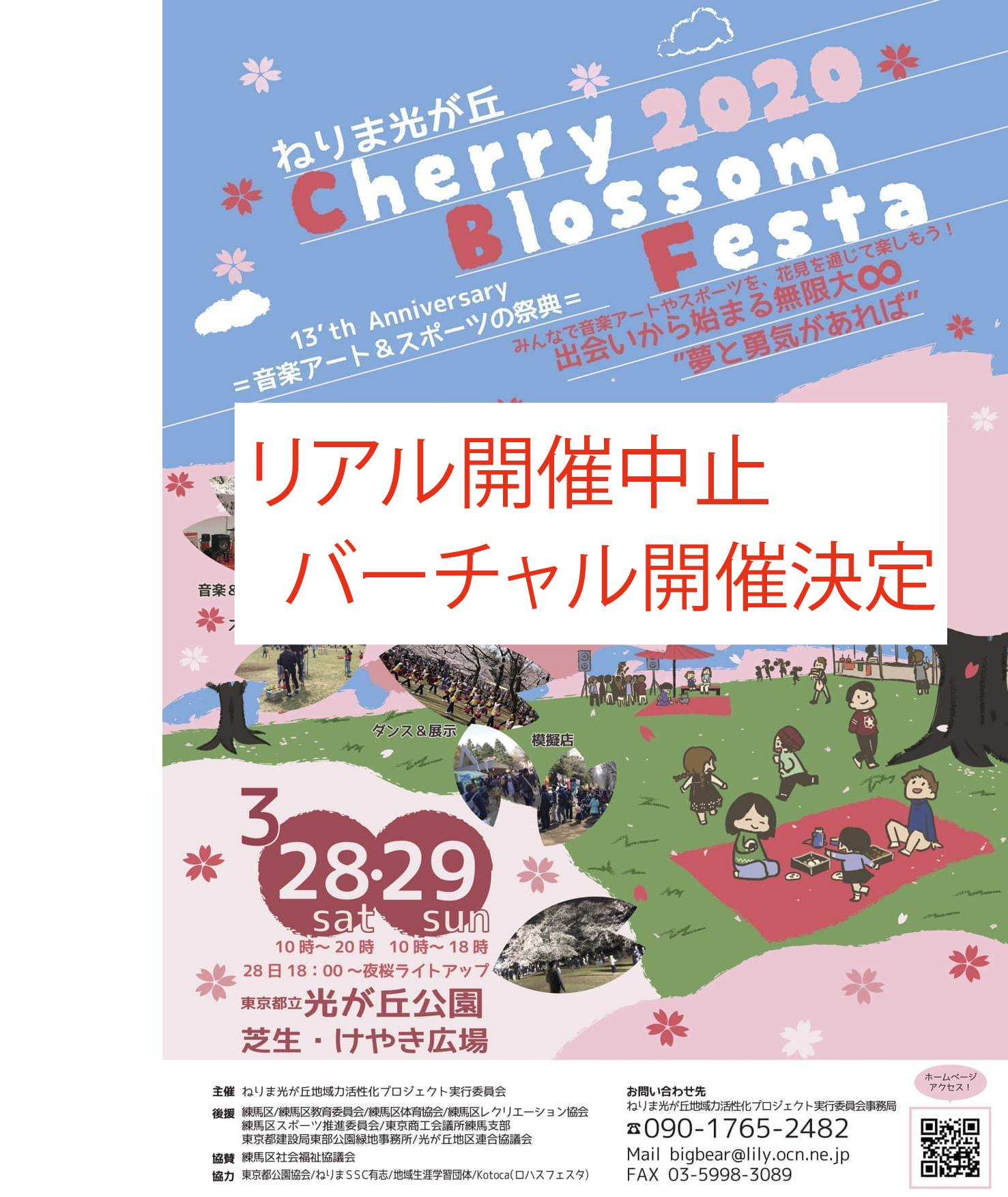 [real cancellation/virtual holding decision] nerima Hikarigaoka Cherry Blossom Festa 2020 image