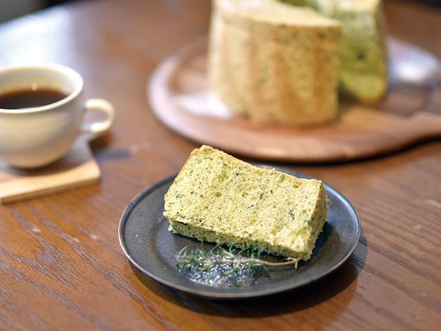 오이즈미산 야채를 사용한 시폰 케이크