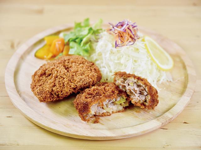 Japanese black beef menchi-katsu with Nerima vegetables