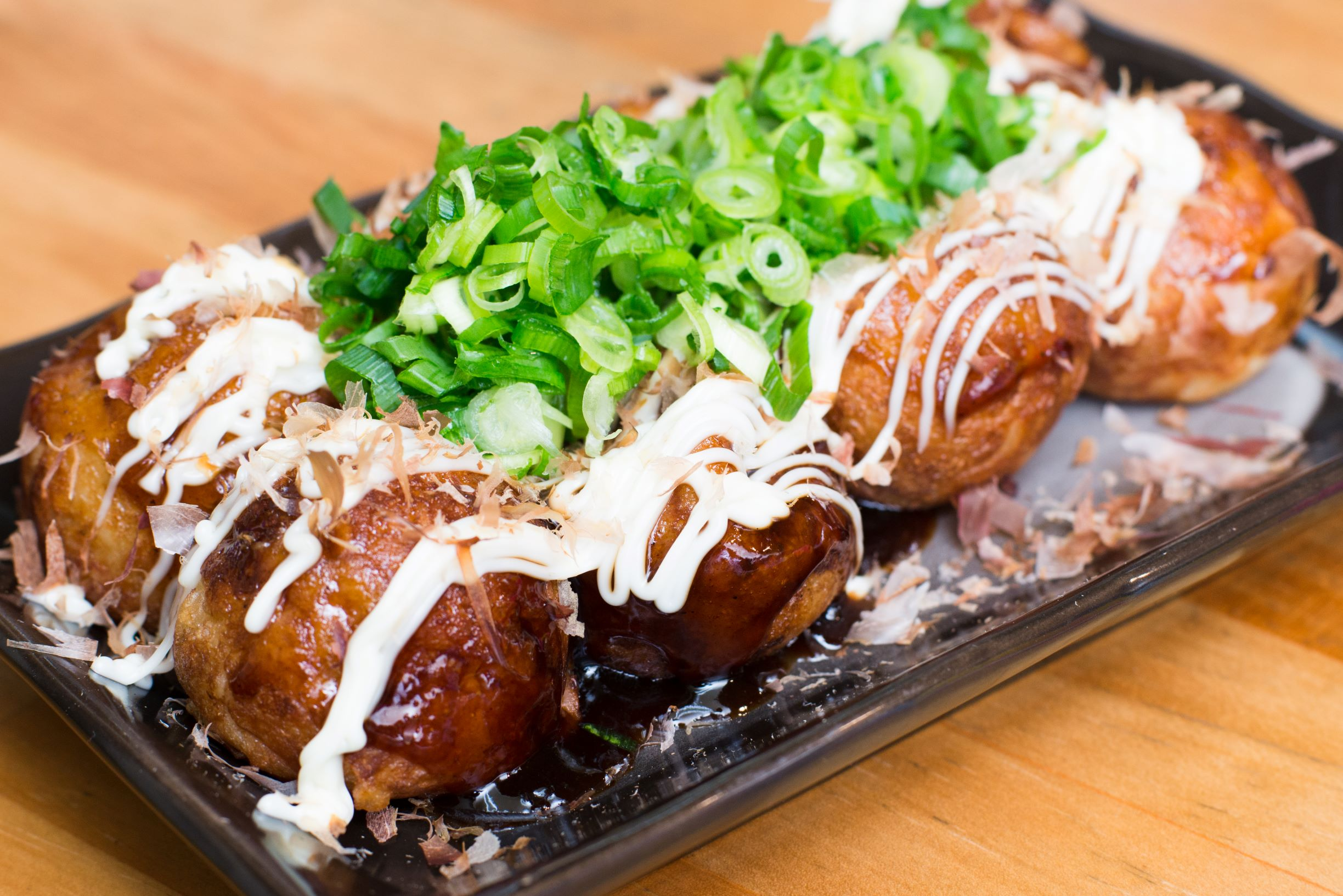 Eight takoyaki