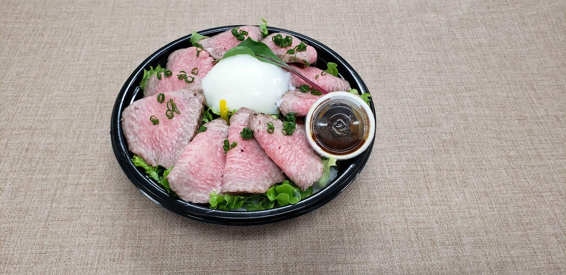 日本牛雪花烤牛肉飯圖片